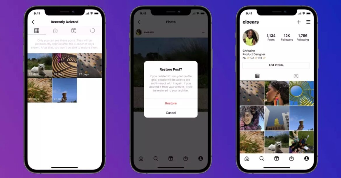 Instagram's 'recently deleted' feature lets you change your mind about deleting a post